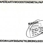 1988.03.03 - Wood Stone Metal Paper Earth - front
