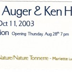 2003.08.28 - Auger & Hopper invite