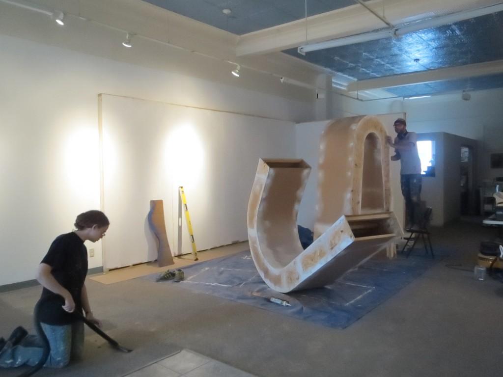 Steve deBruyn installation